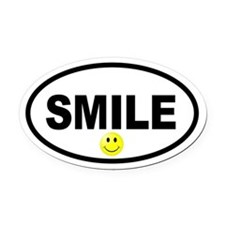 Smile Smiley Face Oval Oval Car Magnet