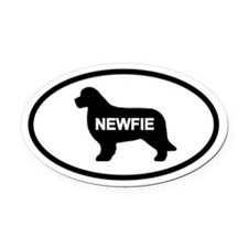 Newfie Oval Car Magnet