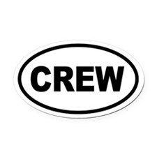 Basic Crew Oval Car Magnet
