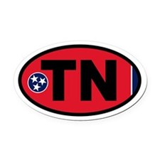Tennessee Flag Oval Car Magnet