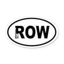 Row Oarsman Oval Car Magnet