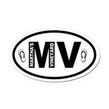 Martha's Vineyard MV Flip Flops Oval Car Magnet