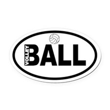 Volleyball Ball Oval Car Magnet