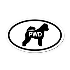 Portuguese Water Dog PWD Oval Car Magnet