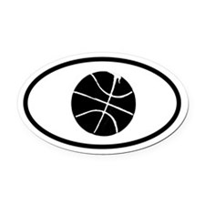 Basketball Oval Car Magnet