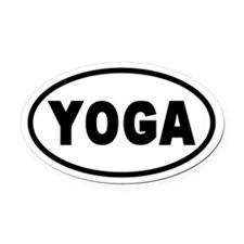 Basic Yoga Oval Car Magnet