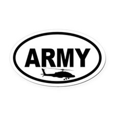 ARMY Helicopter Oval Car Magnet