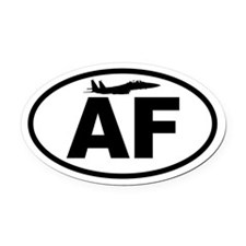 Air Force Fighter Jet Oval Car Magnet