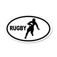 Rugby Player Oval Car Magnet