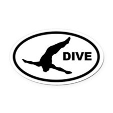 Diver Oval Car Magnet