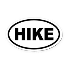 Hiking Oval Car Magnet