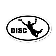 Disc Flying Frisbee Catch Oval Car Magnet