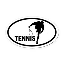 Tennis Serve Oval Car Magnet