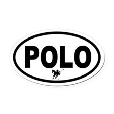 Polo Oval Car Magnet