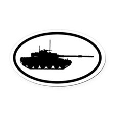 ARMY Tank Oval Car Magnet