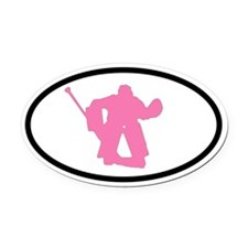 WOMEN'S HOCKEY Goalie Oval Car Magnet