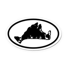 Martha's Vineyard Map Oval Car Magnet