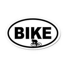 Cycling Racer Oval Car Magnet