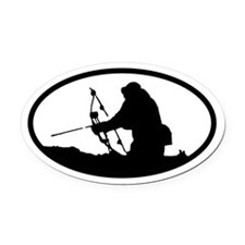 Bowhunting Oval Car Magnet