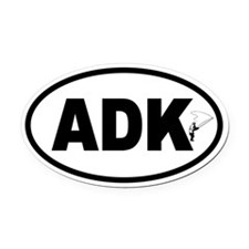 Adirondack ADK Fly Fishing Oval Car Magnet