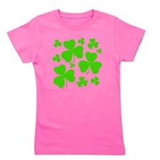 irish clover3 Girl's Tee