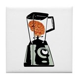 Brain in Blender Tile Coaster