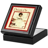 Dream On ...Bookplate Storage Box Keepsake Box