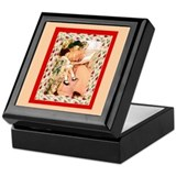 Mother Daughter Reading Bookplate Storage Box
