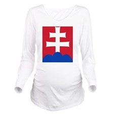 slovakiaEmblem2 Long Sleeve Maternity T-Shirt