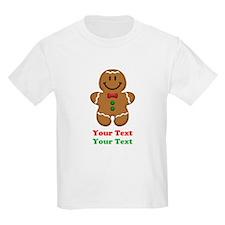 Personalize Little Gingerbread Man T-Shirt