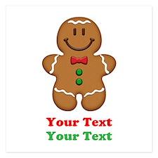 Personalize Little Gingerbread Man 5.25 x 5.25 Fla