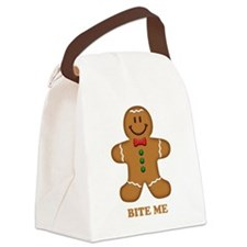Gingerbread Man Bite Me Canvas Lunch Bag