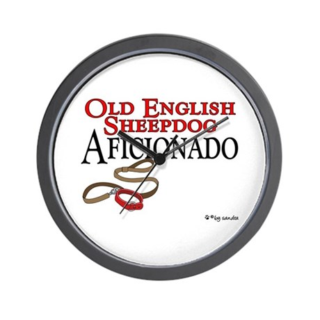 Old English Sheepdog Aficionado Wall Clock