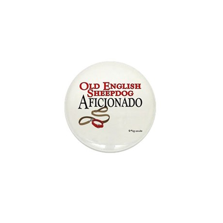 Old English Sheepdog Aficionado Mini Button