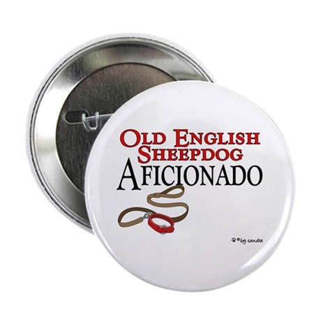 Old English Sheepdog Aficionado Button