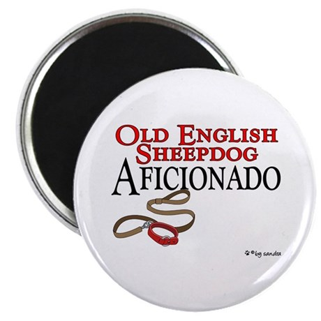 "Old English Sheepdog Aficionado 2.25"" Magnet (10 p"