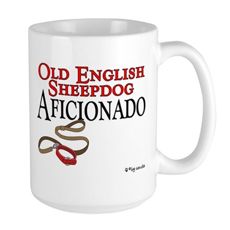 Old English Sheepdog Aficionado Large Mug
