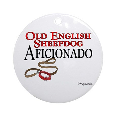 Old English Sheepdog Aficionado Ornament (Round)