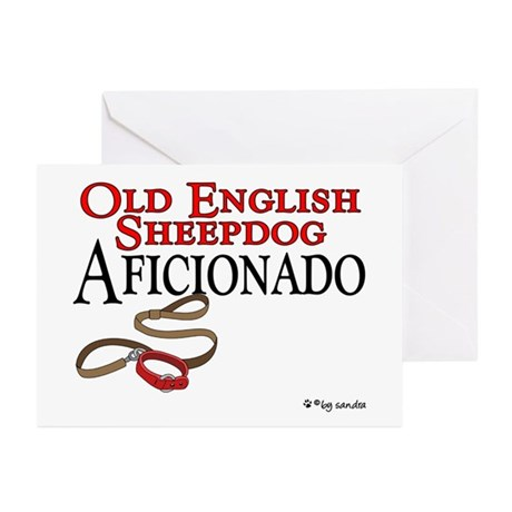 Old English Sheepdog Aficionado Greeting Cards (Pa