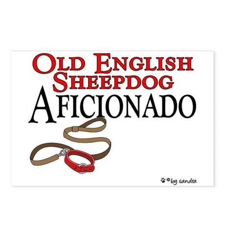 Old English Sheepdog Aficionado Postcards (Package