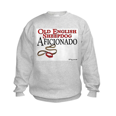 Old English Sheepdog Aficionado Kids Sweatshirt