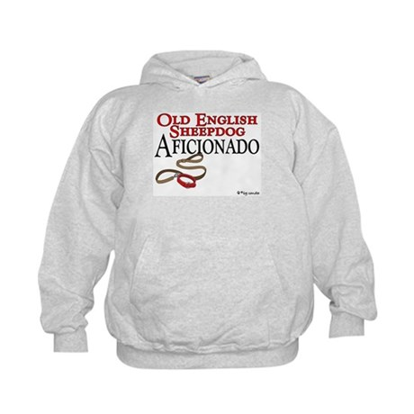 Old English Sheepdog Aficionado Kids Hoodie