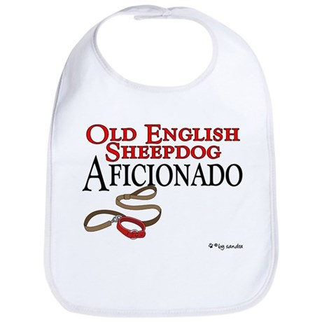 Old English Sheepdog Aficionado Bib