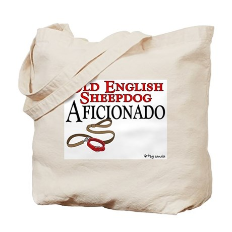 Old English Sheepdog Aficionado Tote Bag