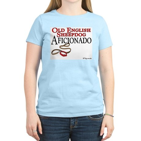 Old English Sheepdog Aficionado Women's Pink T-Shi