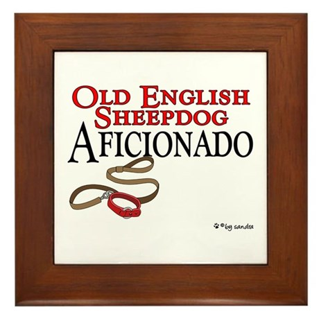 Old English Sheepdog Aficionado Framed Tile