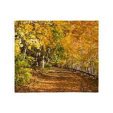 Autumn Road Throw Blanket