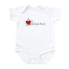 """""""I Love You"""" [German] Infant Bodysuit"""