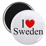 """I Love Sweden"" Magnet"