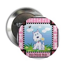 "Best Westie Mom 2.25"" Button"